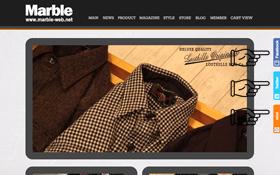 Marble Web Storeの各ページにSNSのバーを配置