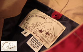 BANANA EQUIPMENTから定番アイテムDramming Nylon Jacketが入荷
