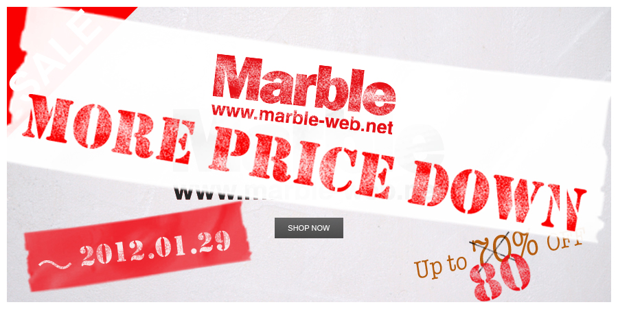Marble Winter More Sale スタート!!!!!