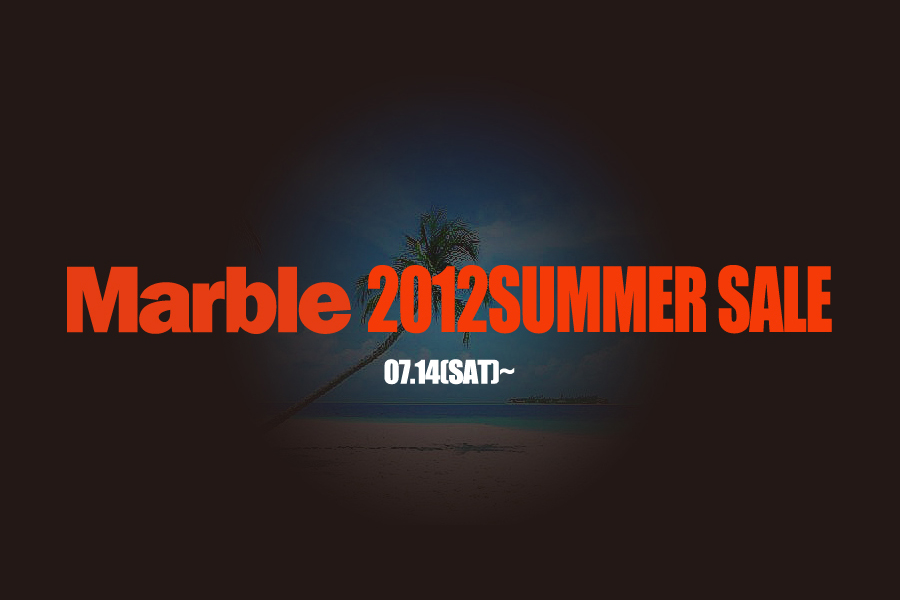 現在Marble web store summer sale開催中!!